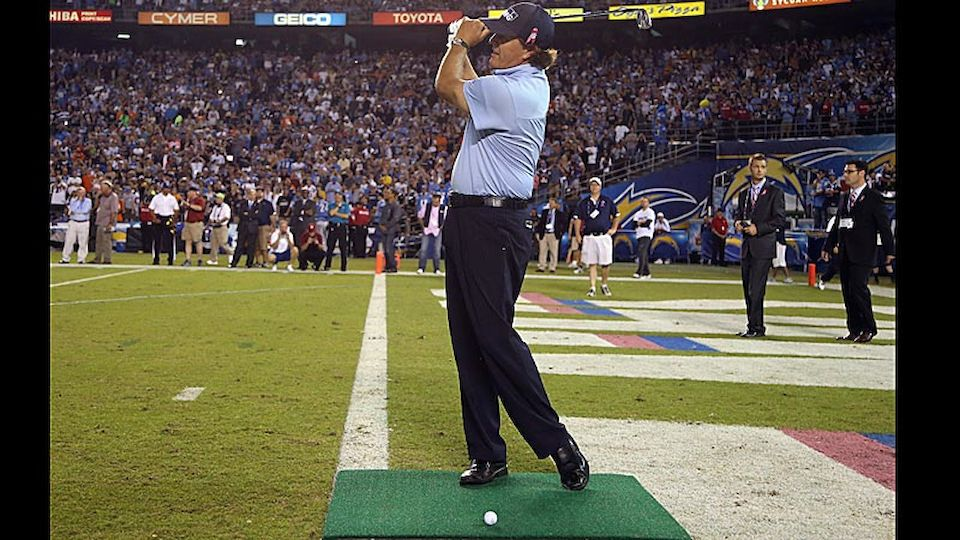 Mickelson San Diego Chargers Charity Diashow Laola1 At