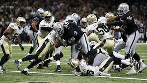 Raiders überraschen die Saints