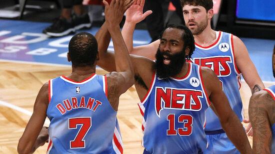 Harden bei Nets-Debüt historisch stark