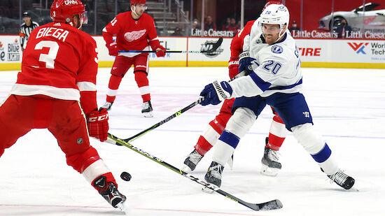Blitz-Tor bei Lightning-Sieg gegen Red Wings