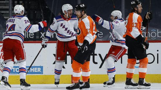 Flyers unterliegen Rangers nach Shootout