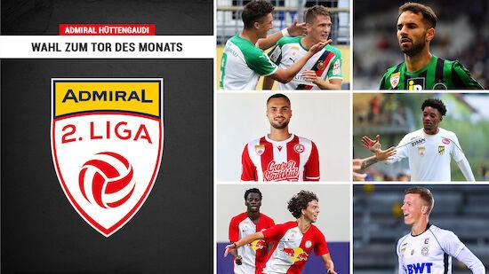 ADMIRAL 2. Liga: Wahl zum Tor des Monats August
