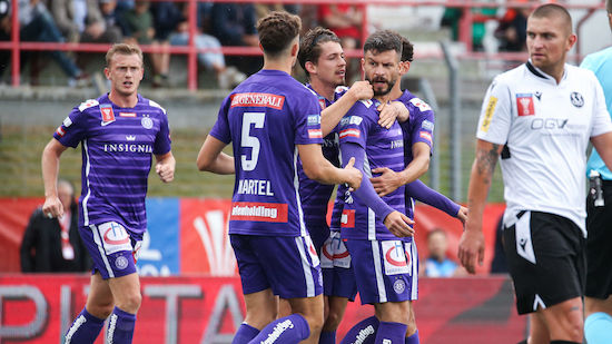 Austria Wien nimmt Cup-Hürde Spittal