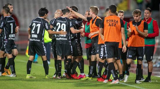 LASK jubelt über Hinspiel-Sieg bei Novi Sad