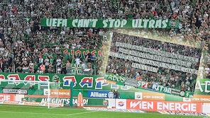 Rapid: Ultras-Protest gegen UEFA in CL-Quali