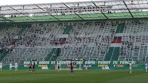 Boykott! Rapid-Fanblock blieb leer