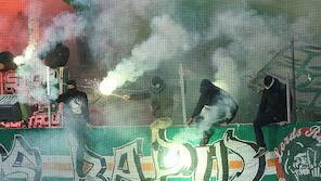 Rapid-Fans im Austria-Sektor