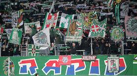 Spruchbänder der Ultras Rapid an Italien-Botschaft