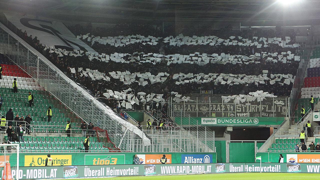 Sturm Fans Unterstutzen Rapid Anhanger Skandalos Laola1 At