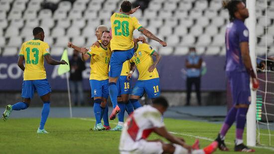 Copa: Brasilien fertigt Peru ab