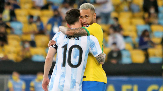 Neymar huldigt Messi nach Triumph bei Copa America
