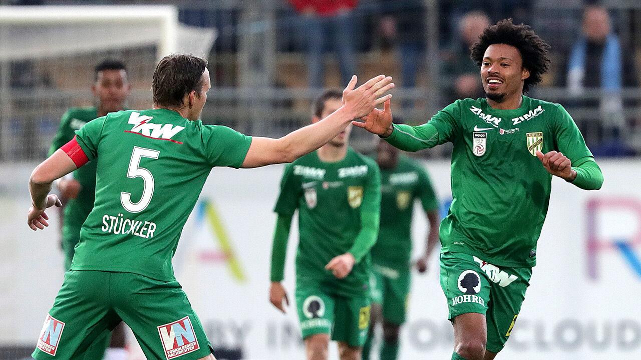 Erste liga austria lustenau verk rzt r ckstand auf lask for Ergebnisse erste liga