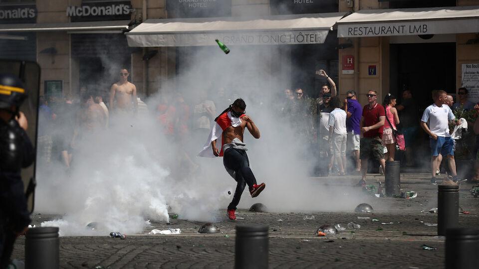 Bilder der heftigen Ausschreitungen in Marseille