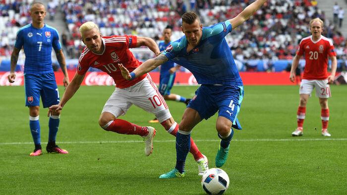 Fussball Wales Slowakei