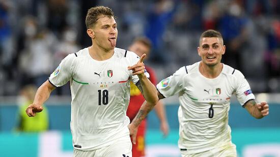 Italien nach Sieg über Belgien im EM-Halbfinale