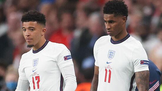 Rassistische Anfeindungen gegen England-Trio