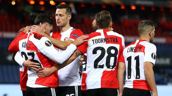 Trauner jubelt bei Feyenoord-Debüt