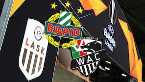 Rapid, WAC, LASK: Wie groß sind die EL-Strapazen?
