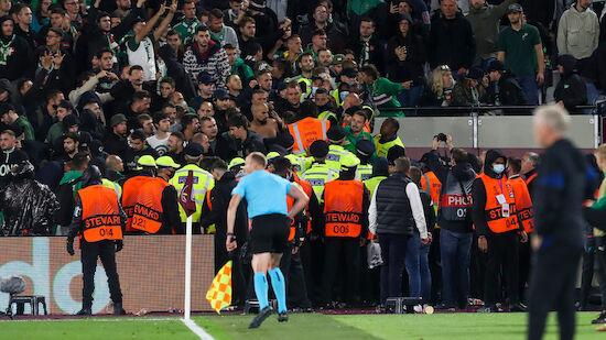 Festnahmen nach Fan-Tumulten bei West Ham-Rapid