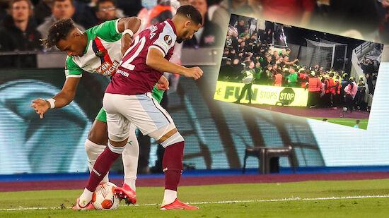 Rapid-Fans sorgen für Tumulte gegen West Ham