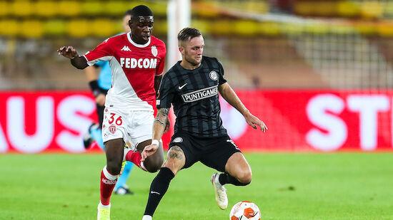 Sturm verliert bei Europa-Comeback in Monaco