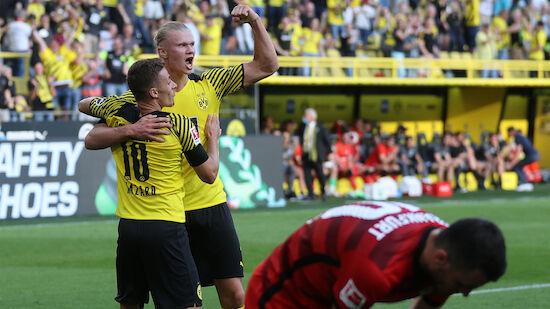 Haaland glänzt bei BVB-Sieg gegen Frankfurt