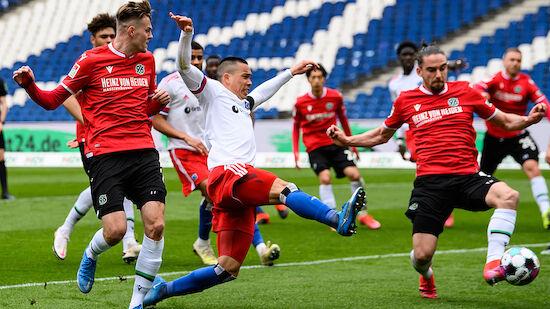 HSV verspielt 3:0-Führung bei Hannover 96
