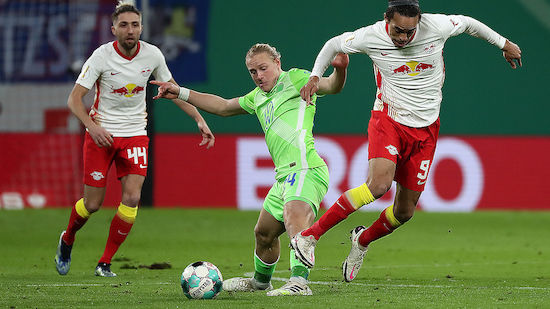 Leipzig wirft Glasners Wolfsburg aus dem Pokal