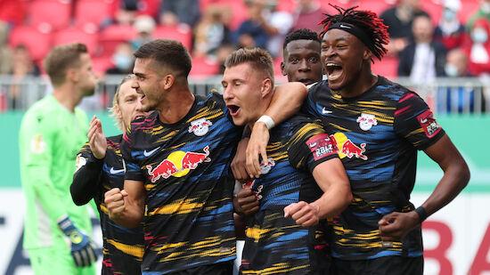 DFB Pokal: RB Leipzig jubelt bei Marsch-Debüt