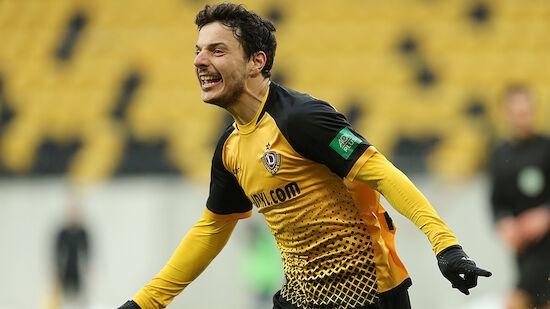 Hosiner steigt mit Dresden in 2. Bundesliga auf