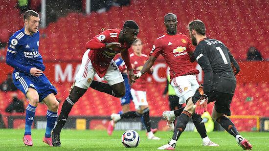 Leicester nach Sieg gegen Man United auf CL-Kurs