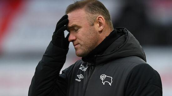 Nur neun Spieler! Rooney mit Derby County in Not