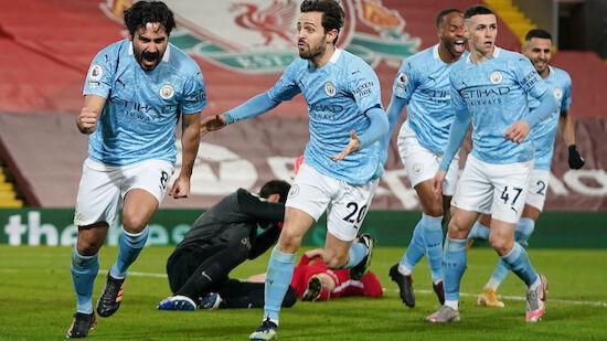 Manchester City schießt im Top-Spiel Liverpool ab