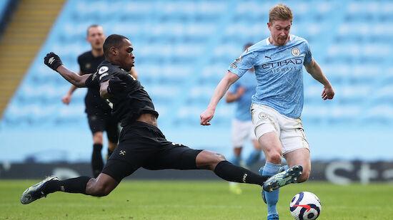 Manchester City siegt knapp gegen West Ham