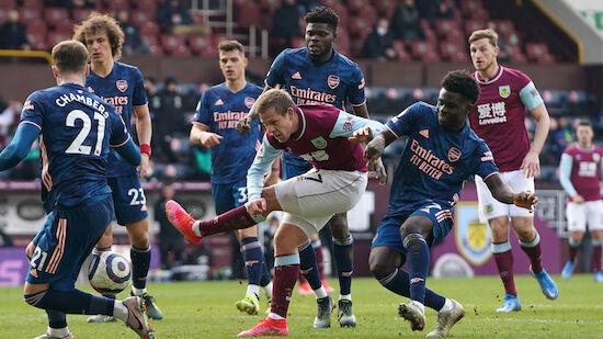 Arsenal lässt Punkte in Burnley liegen