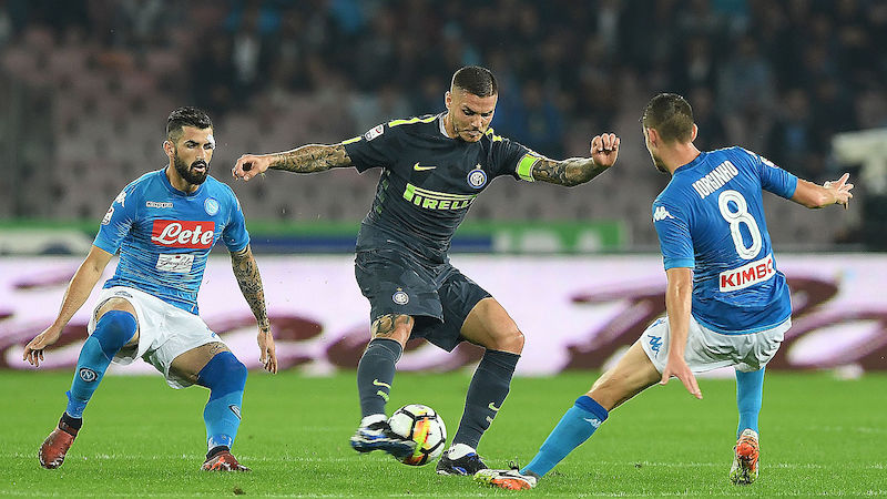 Unentschieden bei SSC Napoli gegen Inter Mailand