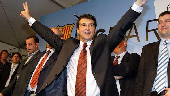 Joan Laporta wird neuer Präsident des FC Barcelona