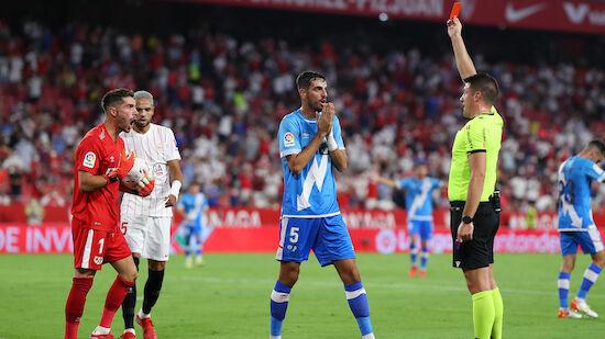 Zidane fliegt bei Sevilla-Sieg früh vom Platz