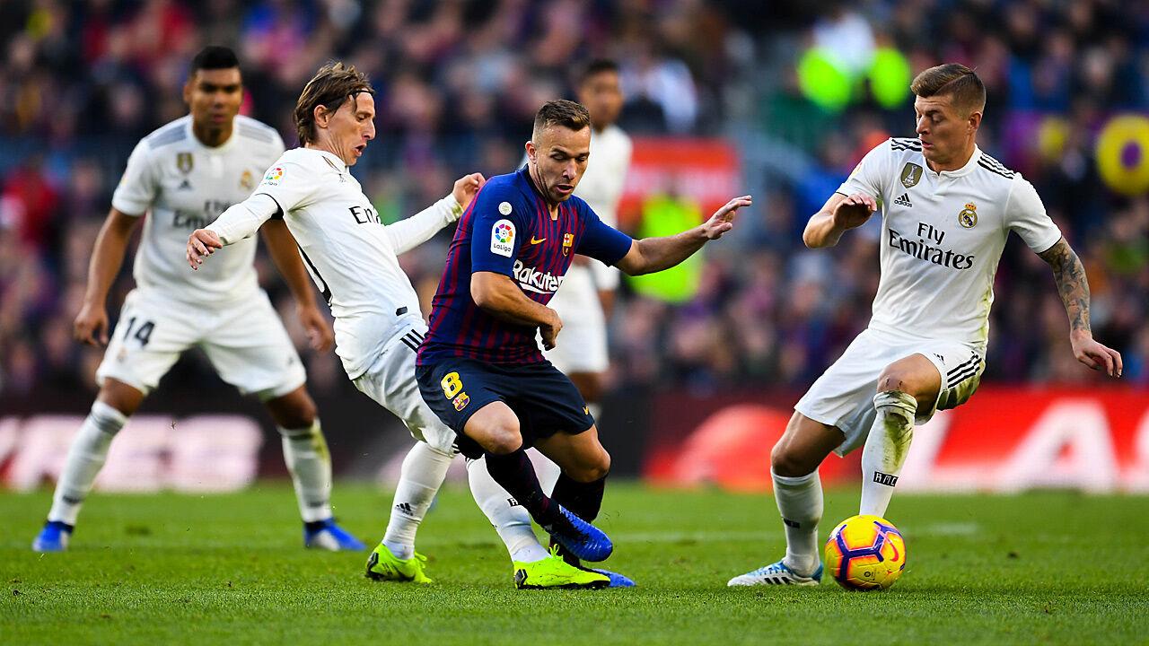 Copa Del Rey Fc Barcelona Gegen Real Madrid Im Clasico Copa Del