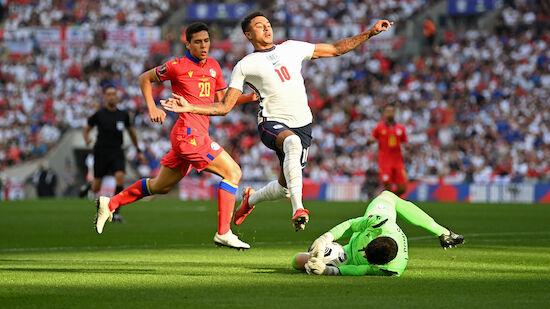 England dreht spät gegen Fußball-Zwerg auf