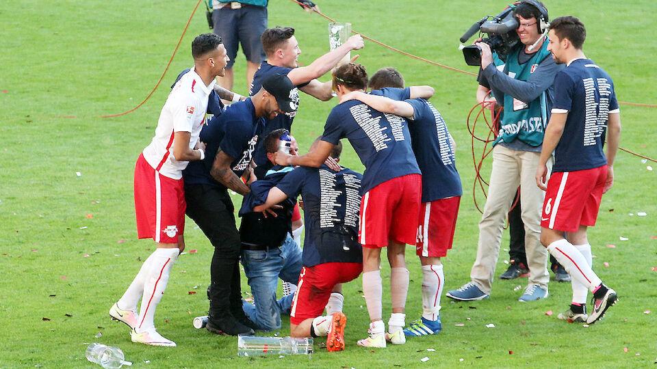 Leipzig Aufstiegsfeier Rangnick