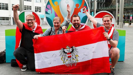 ÖFB-Fans im Wembley: