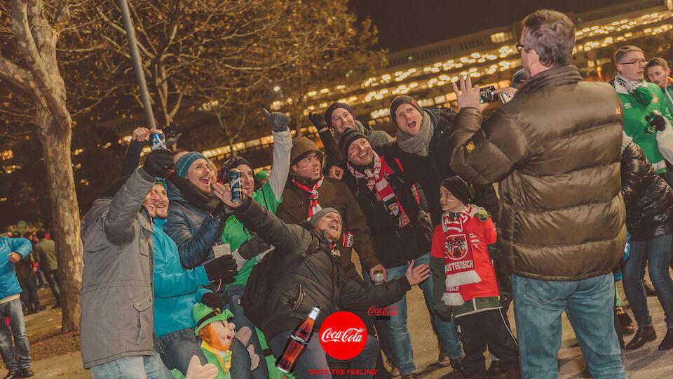 Fan-Bilder Österreich Irland