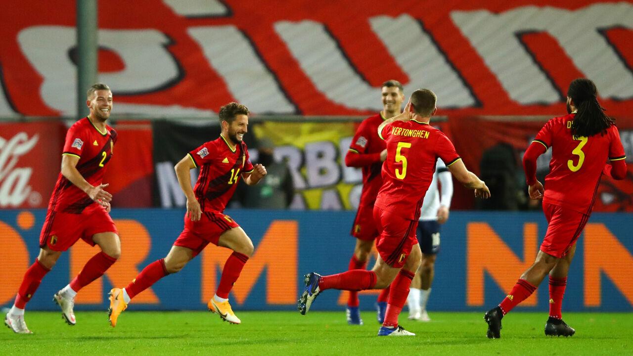 Aufstellung Belgien Wales