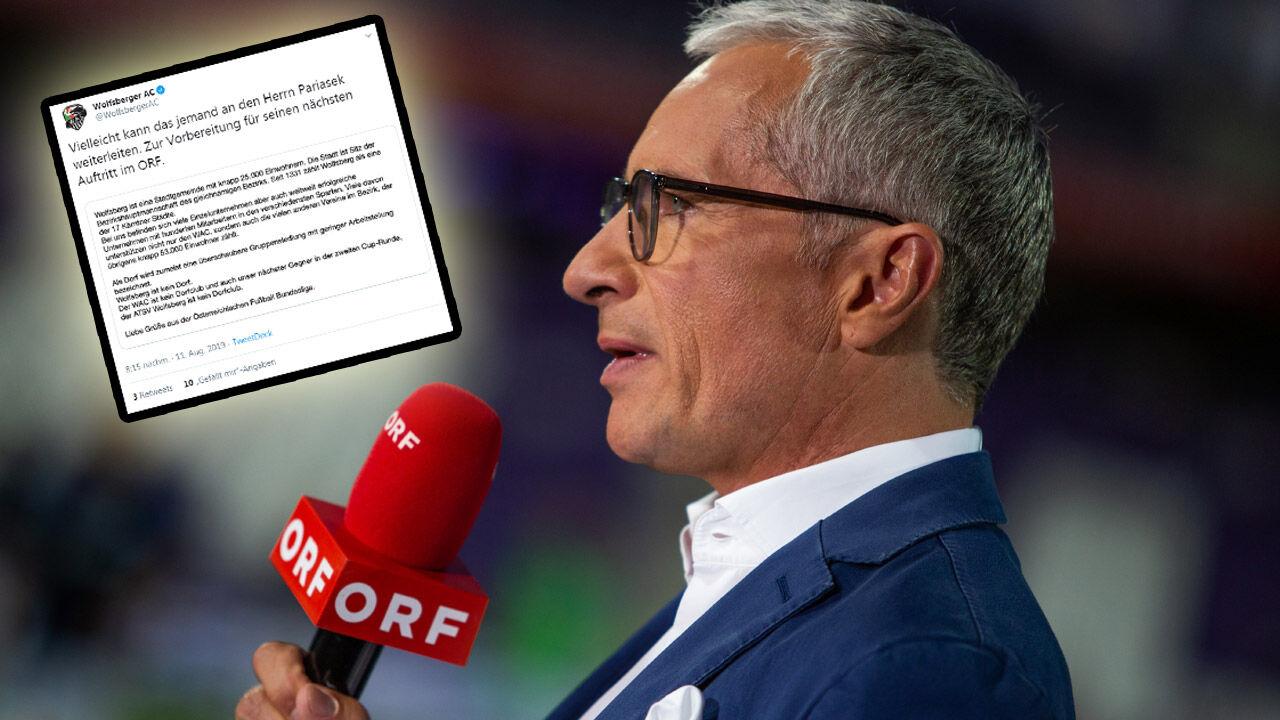 Wolfsberger Ac Stichelt Gegen Orf Moderator Rainer Pariasek