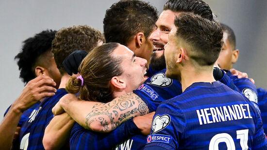 WM-Quali: Frankreich fährt Pflichtsieg ein