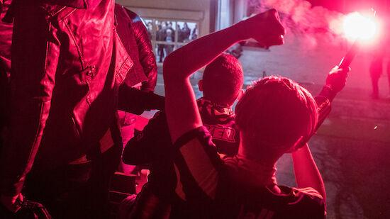 Rauferei zwischen Sturm- und PSV-Anhänger