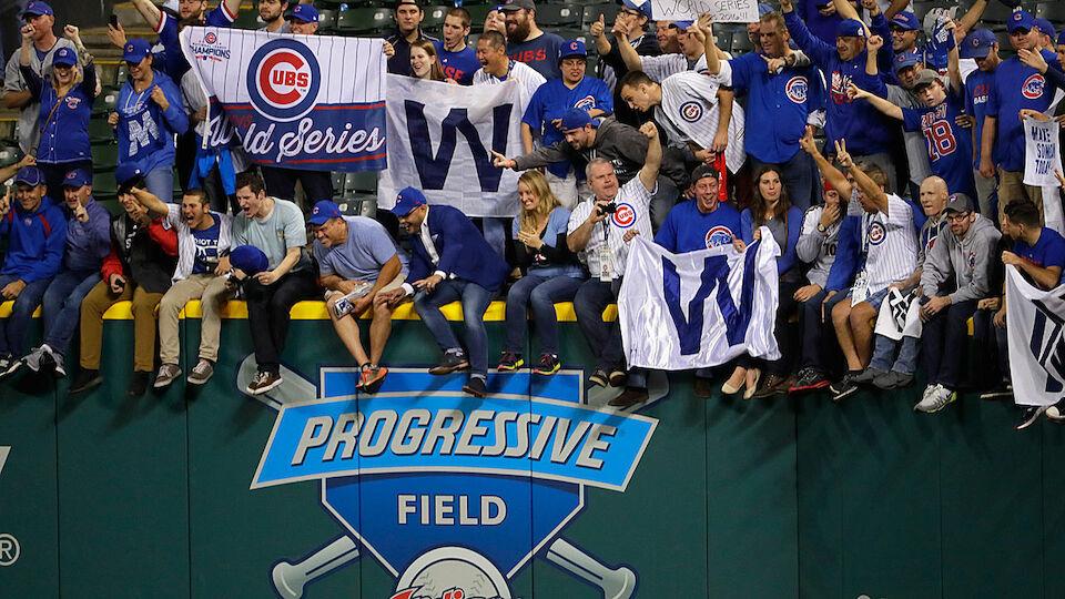 So jubeln die Cubs über erste World Series seit 1908