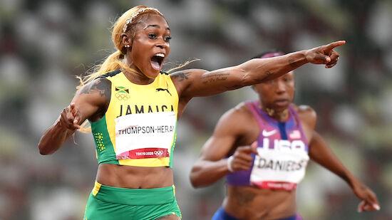 100m: Thompson mit Sensationslauf zu Gold