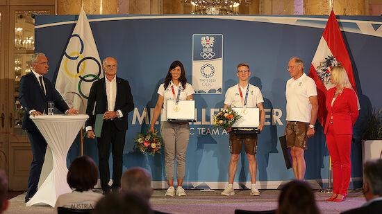 ÖOC-Medaillengewinner in Wiener Hofburg geehrt